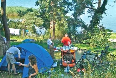 Camping am Oberuckersee in Warnitz, Foto: Camping am Oberuckersee